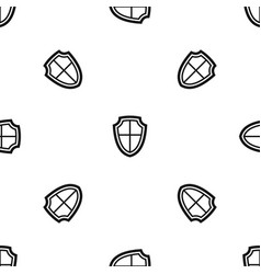 shield pattern seamless black vector image vector image