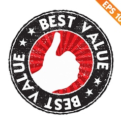 Stamp sticker best value collection - - EPS vector image vector image