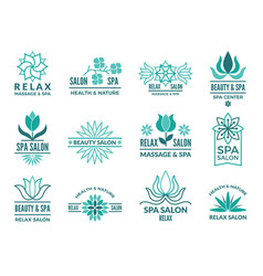 floral logotypes for beauty and spa salon vector image vector image
