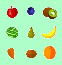 Fruits - set vector image