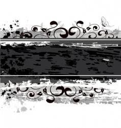 grunge banner design vector image vector image