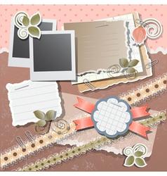 Scrapbook background vector image vector image