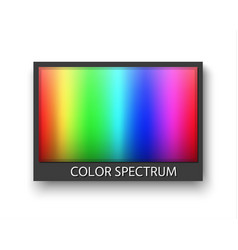 simple grey frame with color spectrum isolaten on vector image vector image