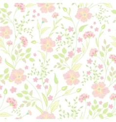 Trendy Seamless Floral Print Cute little flowers vector image