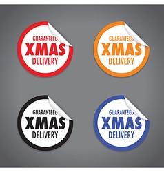 christmas peel sticker set vector image vector image