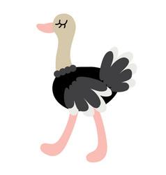cute cartoon ostrich vector image vector image