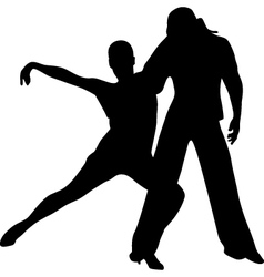 dance people silhouette vector image vector image