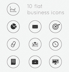 Modern flat icons collection of business theme vector image vector image