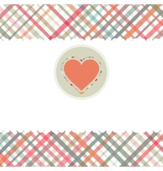 Romantic card with heart template EPS 8 vector image vector image
