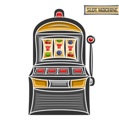 vintage slot machine vector image