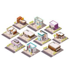 Entertainment places set vector
