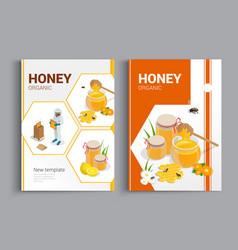 organic raw honey designe brochure abstract vector image vector image