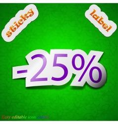 25 percent discount icon sign Symbol chic colored vector