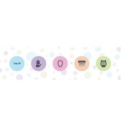 5 decorative icons vector