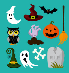 A halloween element owl vector