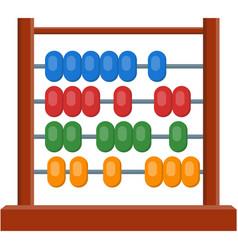 Abacus math calculator flat cartoon vector