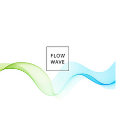 abstract background blue green wavy vector image