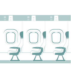 Aircraft cabin silhouette vector