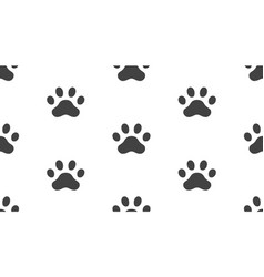 animal tracks seamless pattern with flat vector image