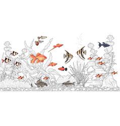 aquarium for coloring vector image