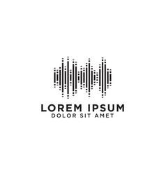 audio wave logo design template vector image