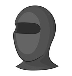 Balaclava icon gray monochrome style vector
