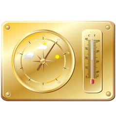 Barometer for determination weather vector