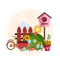 Big garden and farm set vector image