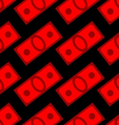 Blood money seamless pattern dollars on fear and vector