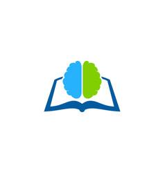 brain book logo icon design vector image