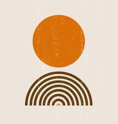 Burnt orange sun print boho minimalist printable vector