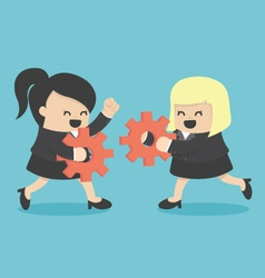 Businesswoman teamwork vector