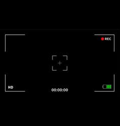 Camera viewfinder recording vector