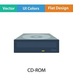 CD-ROM icon vector