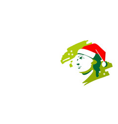 Christmas greek head vector