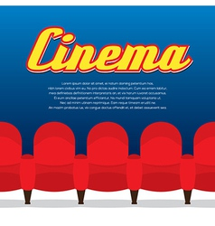 Cinema Seats Row vector image