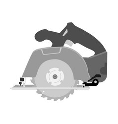 circular saw woodworking vector image