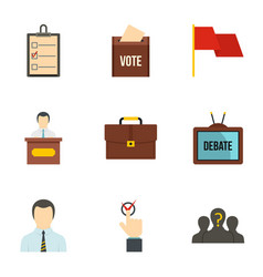 Consulting icons set flat style vector