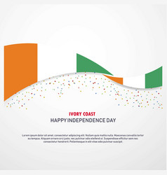 Cote d ivoire ivory coast happy independence day vector