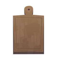 Cutting board for kitchen in cartoon style vector