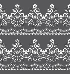 decorative seamless lace pattern - lace art vector image