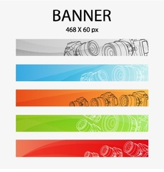 Digital camera banner vector