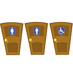 Doors with wc signs vector