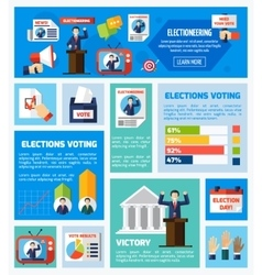 Elections and voting flat collection vector