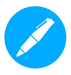 Fancy ballpoint pen icon vector