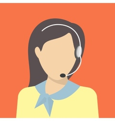 Female call centre operator vector