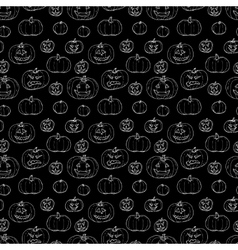 Festive decoration pumpkins vector image