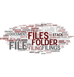 Filings word cloud concept vector