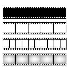 Film strip collection template cinema frame vector