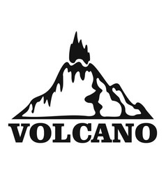 Fire volcano logo simple style vector